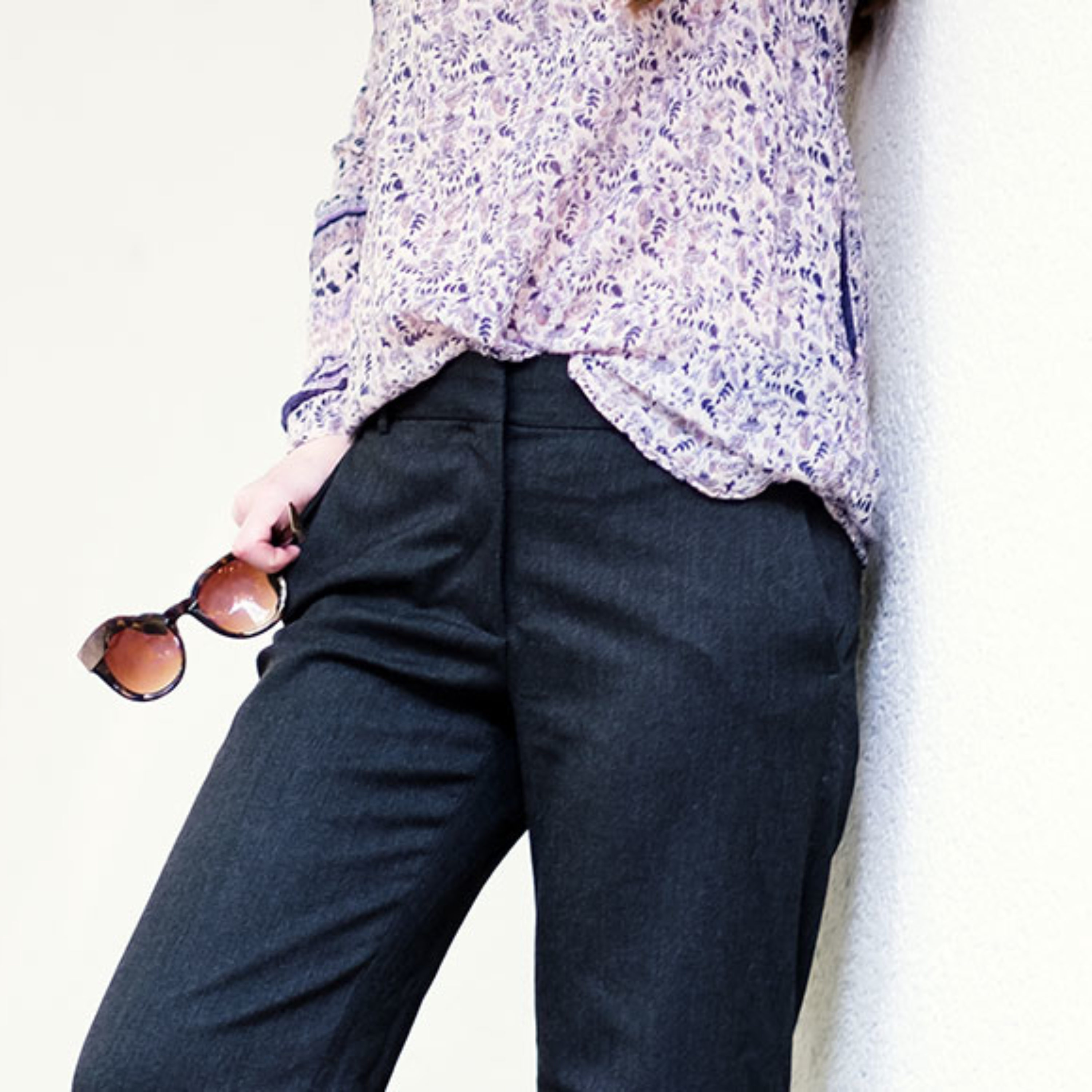 Outfit: Wide Legs Pant mit 70s Bluse